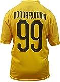 Camiseta Jersey Futbol A.C. Milan Gianluigi Donnarumma Replica Oficial Autorizado 2018-2019 Niños (2,4,6,8,10,12 año) Adultos (Small, Medium, Large, Xlarge) (Talla 2 Años)