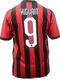 Camiseta Jersey Futbol A.C. Milan Gonzalo Higuain Replica Oficial Autorizado 2018-2019 Niños (2,4,6,8,10,12 año) Adultos (Small, Medium, Large, Xlarge) (Talla 6 Años)