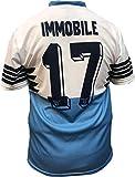 Camiseta Jersey Futbol S.S. Lazio Ciro Immobile Replica Oficial Autorizado 2018-2019 Niños (2,4,6,8,10,12 año) Adultos (Small, Medium, Large, Xlarge) (Talla 12 Años)