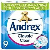Andrex - Nuevos y mejorados rollos de papel higiénico. 9 Unidades