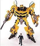 LUSTAR Transformers Juguete Bumblebee Studio Series Action Figuras de Acción Toys con Sam Figure Model Colección Juguetes para Niños De 6 Años Y hasta 7.8 Pulgadas
