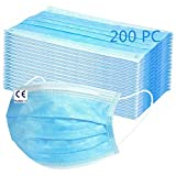 MaNMaNing Mascarillas Protección 3 Capas Transpirables con Elástico para Los Oídos Pack 200 unidades 20200702-MANING-A095