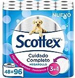 Scottex Megarollo Papel Higiénico, 48 Megarollos (equivale a 96 rollos estándar)