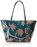 Desigual - Bols_discovery_capri Zipper, Shoppers y bolsos de hombro Mujer, Azul (Petrucho), 13x28x30 cm (B x H T)