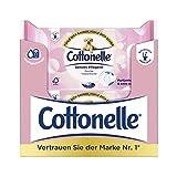 Cottonelle Papel higiénico húmedo, cuidado sensitivo, sin perfume, biodegradable, reutilizable, 12 paquetes de 44 toallitas